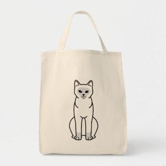 Burmese Cat Cartoon Tote Bag