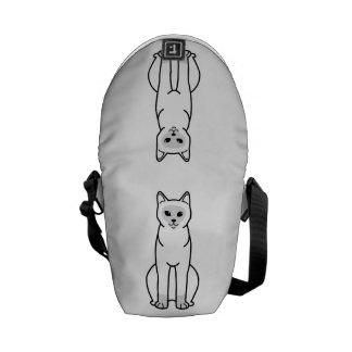 Burmese Cat Cartoon Messenger Bags
