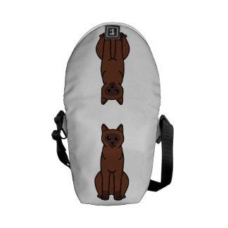 Burmese Cat Cartoon Messenger Bag