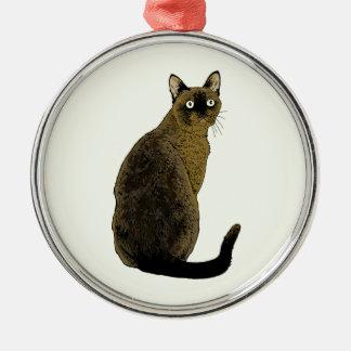 Burmese Cat Christmas Ornament