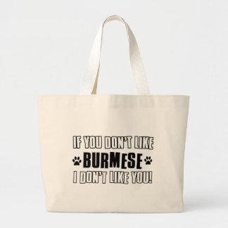 Burmese cat design bag