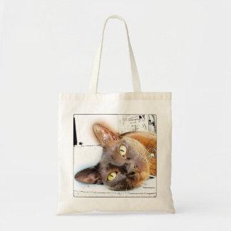 Burmese Cat Face Budget Tote Bag