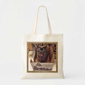 Burmese Cat in a Grocery Box Budget Tote Bag