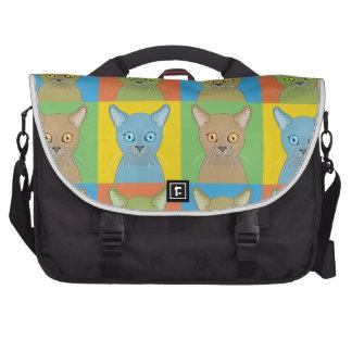 Burmese Cat Pop-Art Commuter Bags