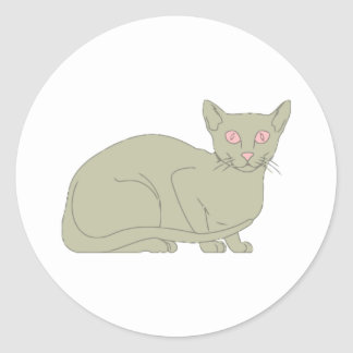 Burmese Cat Round Sticker