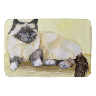 Burmese Cat Sealpoint Bath Mat