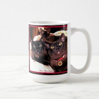 Burmese Cat Trio Basic White Mug