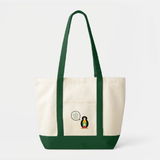 Burmese or Myanmar Talking Penguin Flag Tote Bag