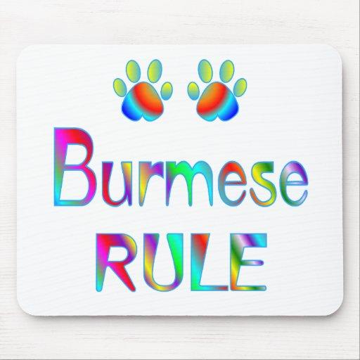Burmese Rule Mouse Mats