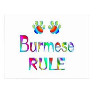 Burmese Rule Postcard