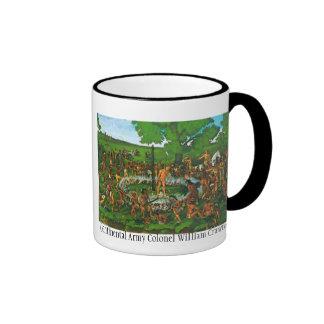 burn, Continental Army Colonel William Crawford Ringer Mug