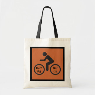 burn fat not oil budget tote bag