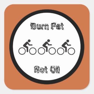 burn fat, not oil message square sticker
