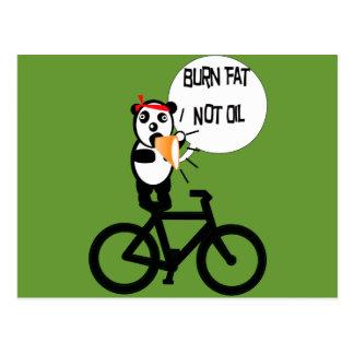 Burn Fat Not Oil Postcard