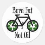 Burn Fat Not Oil Sticker