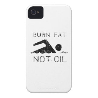 Burn Fat. Not Oil. (swimming) Faded.png iPhone 4 Cover