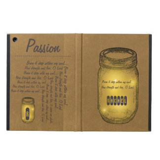 Burn It Deep Passion Mason Jar iPad Air Cover