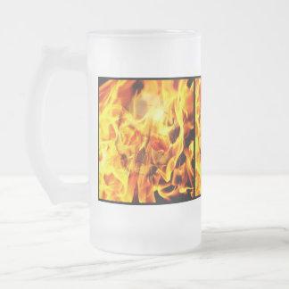 Burn Frosted Glass Mug