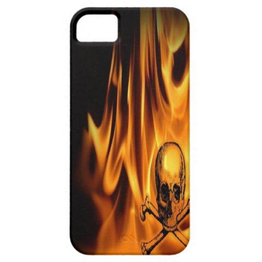 burn skull case iphone5 iPhone 5 covers