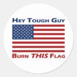 Burn THIS Flag (US) Round Stickers