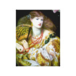 Burn Woman Exotic fashion painting Stretched Canvas Print