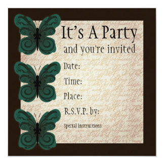 Burned Butterfly Invitation