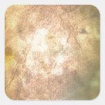 Burned Parchment Square Sticker