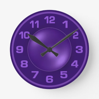 Burned Violet custom wall clock