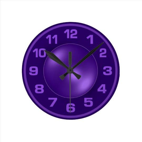 Burned Violet custom wall clock