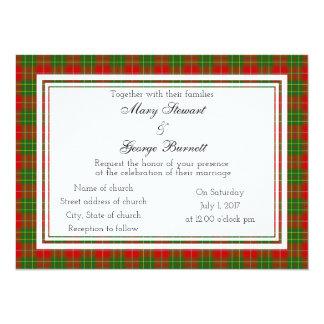 Burnett Scottish Wedding Invitation