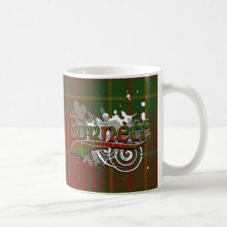 Burnett Tartan Grunge Basic White Mug