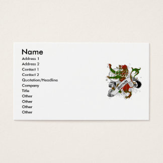 Burnett Tartan Lion Business Card