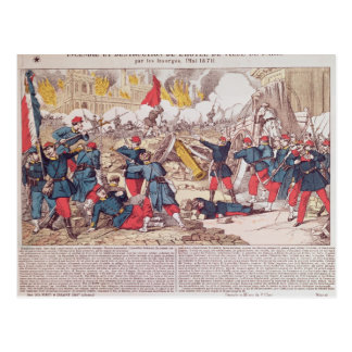 Burning and Destruction of the Hotel de Ville Postcard