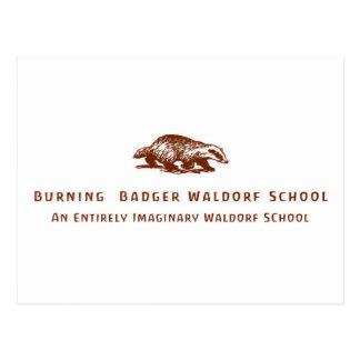 Burning Badger Waldorf School Logo Postcards
