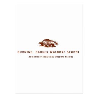 Burning Badger Waldorf School Logo Postcard