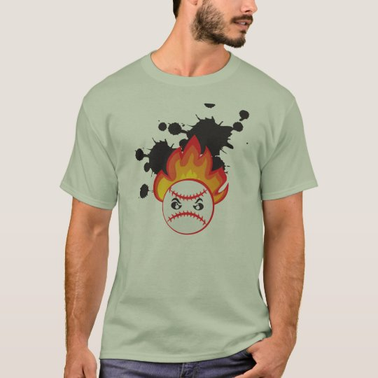 Burning Baseball Ball T-Shirt