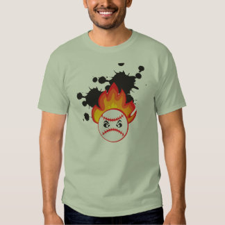 Burning Baseball Ball Tshirt