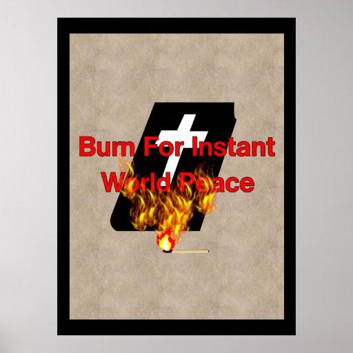 Burning Bible Poster
