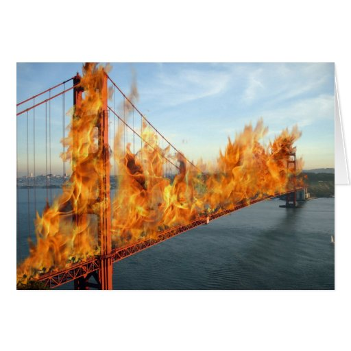 Burning Bridges: Lose My Number Greeting Card
