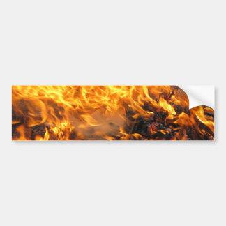 Burning Brush Bumper Sticker