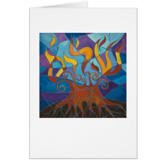 Burning Bush Mosaic Card