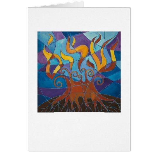 Burning Bush Mosaic Card