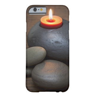Burning candle flame with rocks in tranquil barely there iPhone 6 case