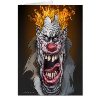 burning clown card