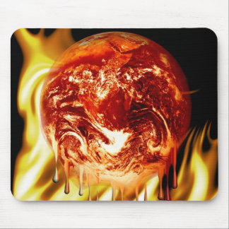 burning earth small fire mouse pads