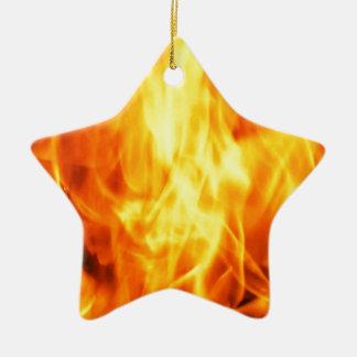 Burning Fire Ceramic Star Decoration