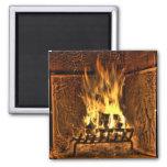Burning Fire Fridge Magnet