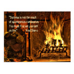 Burning Fire Post Card