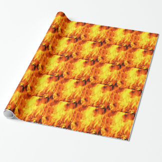 Burning Fire Wrapping Paper