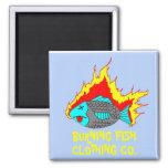 BURNING FISH LOGO FRIDGE MAGNET